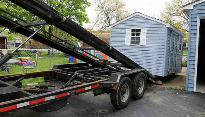 Portable Building Trailers : Storage building shed movers